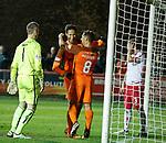 17.04.18 Brechin City v Dundee utd:<br /> Bilel Mohsni celebrates his goal with Scott McDonald