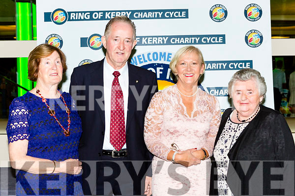 Marie and Pat O'Neill MS South Kerry and Sheila Goulding and Betty crosbie form the Friends of the Children of Chernobyl at the Ring of Kerry cheque presentation in the INEC on Friday night