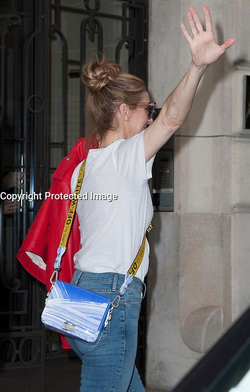 July 13 2017, PARIS FRANCE Singer Celine Dion enters into the Royal Monceau Hotel on Avenue Hoche