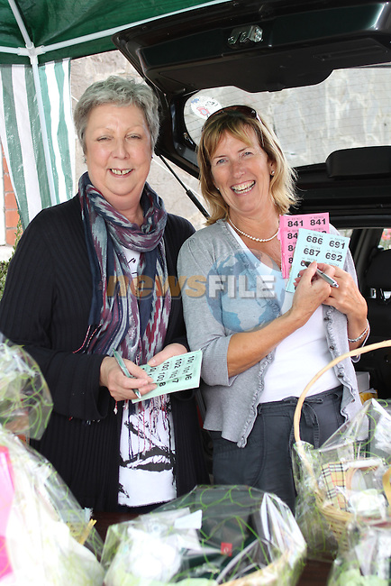 Stephanie Turner with Ann Tracey at the Car Boot Sale in the Gary Kelly Centre...Picture Jenny Matthews/Newsfile.ie