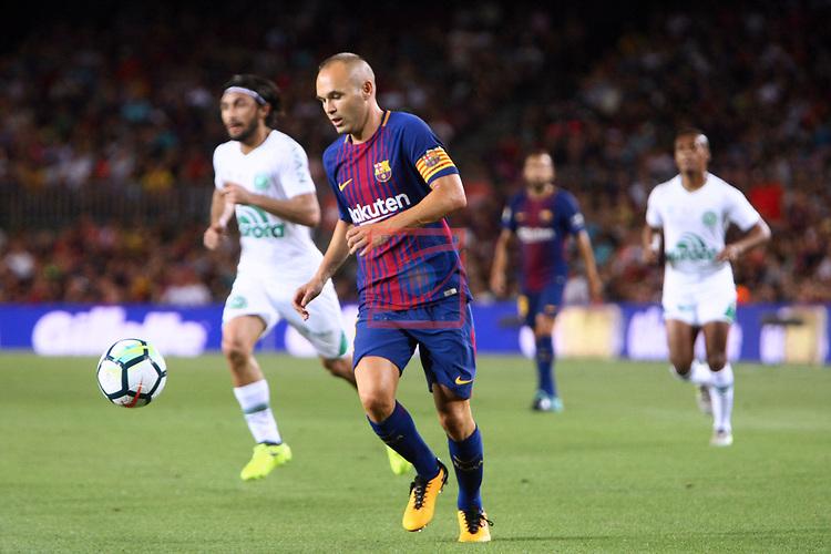 52e Trofeu Joan Gamper.<br /> FC Barcelona vs Chapecoense: 5-0.<br /> Andres Iniesta.
