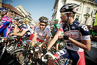 3 Days of De Panne.stage 2.Greg Henderson & Svein Tuft at the start