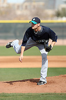 Steven Hensley #10 of the Seattle Mariners participates in spring training workouts the Mariners minor league complex on March 12, 2011  in Peoria, Arizona. .Photo by:  Bill Mitchell/Four Seam Images.