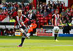 Mark Duffy of Sheffield Utd takes a shot during the Championship League match at Bramall Lane Stadium, Sheffield. Picture date 19th August 2017. Picture credit should read: Simon Bellis/Sportimage