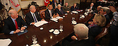 United States President Barack Obama makes a statement during a meeting with present administration officials and former Secrtaries of State and Defense in the Roosevelt Room of the White House on Thursday, November 18, 2010.   From left to right: James A. Baker III, former US Secretary of State; US Vice President Joseph Biden; President Obama; Henry Kissinger, former US Secretary of State;  General James Cartwright, Vice Chairman Joint Chiefs of Staff;  Madeleine Albright, former US Secretary of State; Brent Scowcroft, former National Security Advisor; William Perry, former US Secretary of Defense; US Senator John Kerry (Democrat of Massachusetts); US Secretary of State Hillary Rodham Clinton; and US Senator Richard Lugar (Republican of Indiana)..Credit: Dennis Brack / Pool via CNP