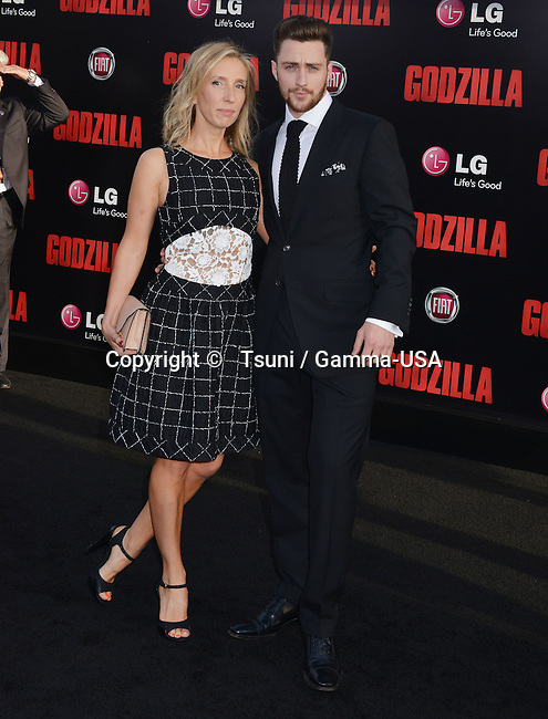 Aaron Taylor-johnson, Wife Sam Taylor-johnson 022 at the Godzilla Premiere at the Dolby Theatre in Los Angeles.