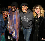 "Nasia Thomas, Danielle Brooks, Rashidra Scott and Natasha Lyonne backstage after a performance of ""Ain't Too Proud"" at the Imperial Theatre on April 11, 2019 in New York City."
