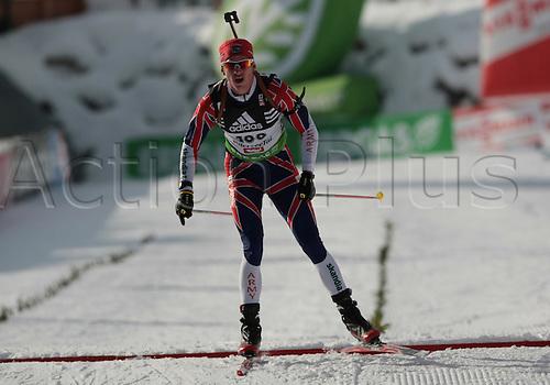 09/12/2011, Hochfilzen, Austria. JACKSON Lee-Steve (GBR) in action during the sprint race of the Biathlon World Cup. Men's Sprint race.