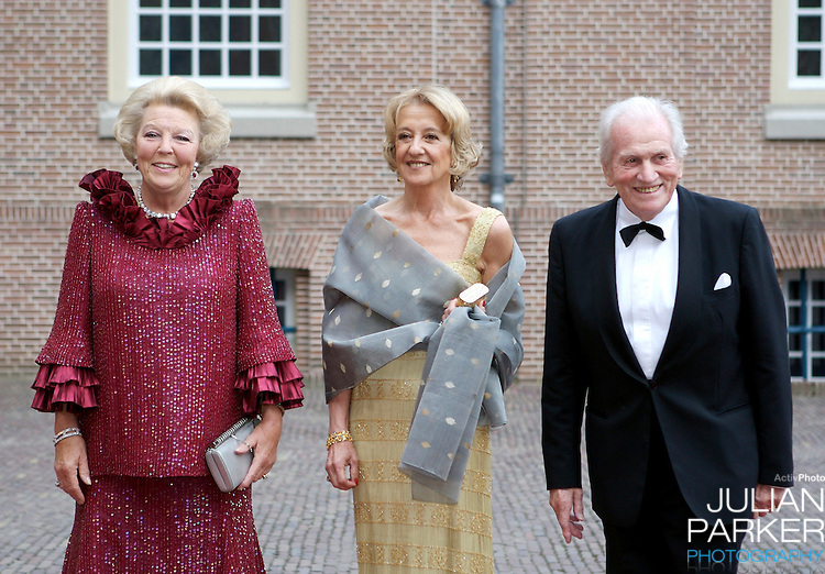 Queen Beatrix of Holland, and Criwn Princess Maximas parents arrive for a Reception at Het Loo Palace in Apeldoorn, to celebrate the 40th Birthday of Crown Prince Willem Alexander, The Prince turned forty in April earlier this year.