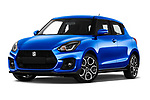 Stock pictures of low aggressive front three quarter view of a 2018 Suzuki Swift Sport Base 5 Door Hatchback