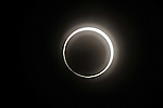 "May 21, 2012, Tokyo, Japan - The annular solar eclipse is seen in Nerima ward, Tokyo, Japan on May 21, 2012. An annular solar eclipse was observed over a wide area of Japan on Monday early morning. Millions of people watched as a rare ""ring of fire"" eclipse crossed the skies. (Photo by Tsutomu Yamada/AFLO) -ty-"