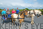 Ballylongford Oyster Festival : Attending  Family fun day during the Ballylongford Oyster festival were Ashling & Pat Scully & Brendan Stack & John Scully in their horse & road cars.