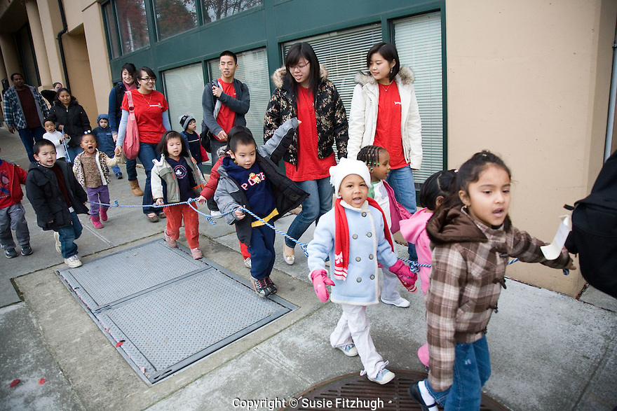 On the day students from UW's College of Education come to play with the children in Noven's class of 2, 3 and 4-year-olds, the energy level is high.