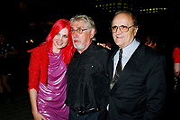 File Photo, Montreal (Qc) CANADA<br /> Chloee Sainte-Marie (L) Gilles Carle (M), Serge Losique au the Premiere of PUDDING CHOMEUR during the 1999 World Film Festival.<br /> <br /> Chlo»e Sainte-Marie  Gilles Carle  aet Serge Losique  r la Premicre de PUDDING CHOMEUR lors du Festival des Films du Monde 1999<br /> Photo : (c) 1999. Pierre Rousel