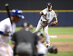 Masahiro Tanaka (Yankees),<br /> MAY 9, 2014 - MLB :<br /> Masahiro Tanaka of the New York Yankees pitches during the Major League Baseball game against the Milwaukee Brewers at Miller Park in Milwaukee, Wisconsin, United States. (Photo by AFLO)
