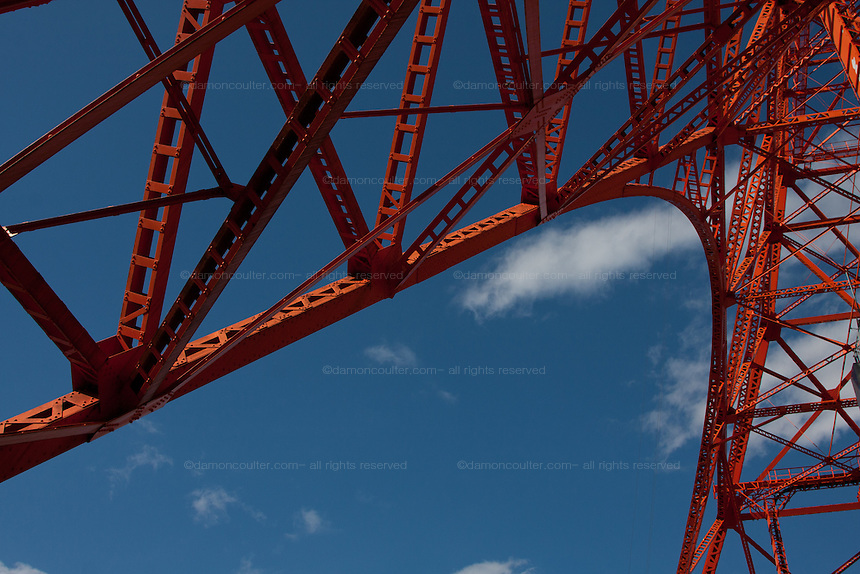 Abstract image of one of the arches at Tokyo Tower. Minato, Tokyo, Japan. Friday February 3rd 2012