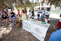 Occidental College hosts Involvement Day on September 8, 2011 in the Academic Quad. The event is held annually iat the beginning of the school year and gives students a chance to join clubs and organizations on campus. (Photo by Marc Campos, Occidental College Photographer)