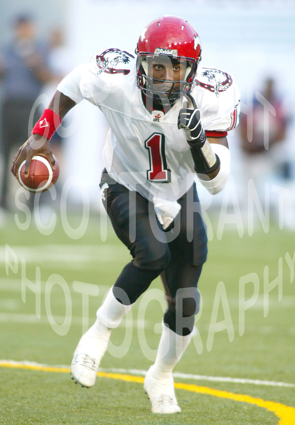 Marcus Crandell Calgary Stampeders quarterback. Photo copyright Scott Grant.