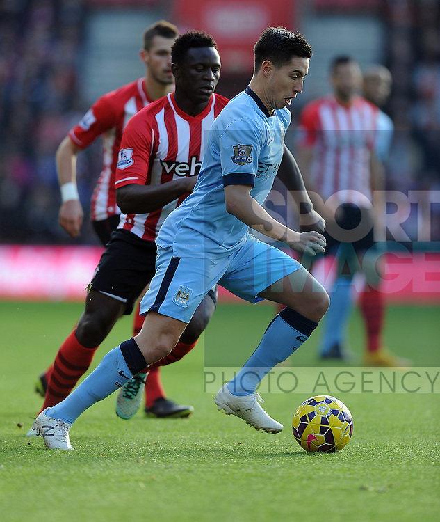 Samir Nasri of Manchester City<br /> - Barclays Premier League - Southampton vs Manchester City - St Mary's Stadium - Southampton - England - 30th November 2014 - Pic Robin Parker/Sportimage