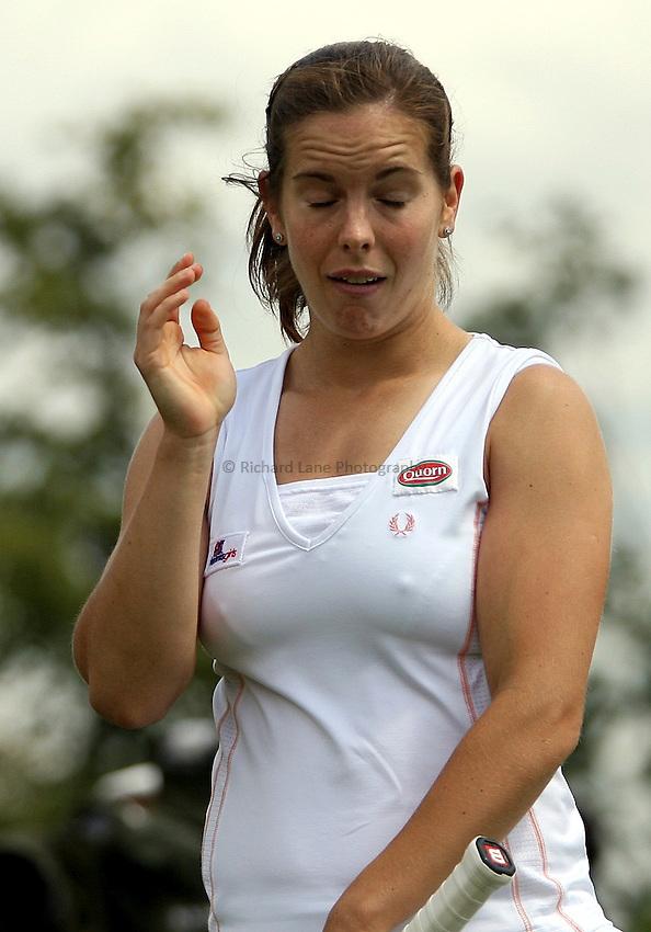 Photo: Paul Thomas..Wimbledon Championships. 28/06/2007...Katie O'Brien (GBR) during her loss to Michaella Krajicek.