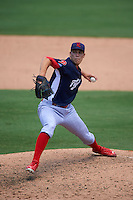 Reading Fightin Phils pitcher Tom Windle (38) during a game against the Bowie Baysox on July 22, 2015 at Prince George's Stadium in Bowie, Maryland.  Bowie defeated Reading 6-4.  (Mike Janes/Four Seam Images)