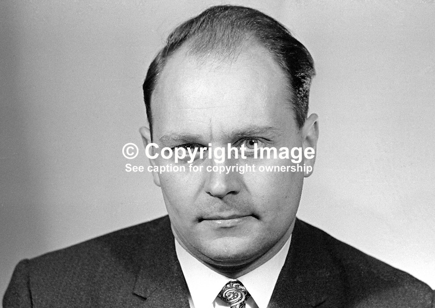 Robert Caldwell, candidate, Bloomfield, Belfast, N Ireland Labour Party, February 1969 General Election, N Ireland Parliament, Stormont. 196902000039<br />