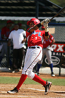Roni Tapia participates in the Dominican Prospect League showcase at the New York Yankees academy on September 19,2013 in Boca Chica, Dominican Republic.