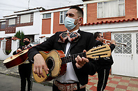 Musicians Dressed as Mariachis Perform on the Streets of Bogota during COVID-19