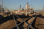 Railroad tracks and refinery, Denver, Colorado, USA