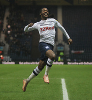Preston North End's Daniel Johnson celebrates scoring his sides first goal <br /> <br /> Photographer Mick Walker/CameraSport<br /> <br /> The EFL Sky Bet Championship - Preston North End v Swansea City - Saturday 12th January 2019 - Deepdale Stadium - Preston<br /> <br /> World Copyright © 2019 CameraSport. All rights reserved. 43 Linden Ave. Countesthorpe. Leicester. England. LE8 5PG - Tel: +44 (0) 116 277 4147 - admin@camerasport.com - www.camerasport.com