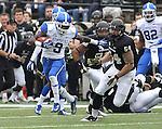 UK wide receiver Demarco Robinson runs the ball during the first half of the University of Kentucky vs. Vanderbilt University football game at Vanderbilt Stadium in Nashville, Tenn., on Saturday, November 16, 2013. Vanderbilt won 22-6. Photo by Tessa Lighty | Staff