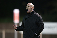 Hornchurch manager Mark Stimson during AFC Hornchurch vs Great Wakering Rovers, BBC Essex Senior Cup Football at Hornchurch Stadium on 4th December 2018