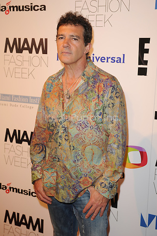 MIAMI, FL - JUNE 02: Antonio Banderas attends The Fisico Runway Show during Miami Fashion Week held at the Ice Palace Studios on June 2, 2016 in Miami Florida. Credit: mpi04/MediaPunch