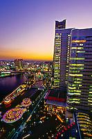 Looking to Queen's Square and Landmark Tower, Minato Mirai 21 waterfront development, Yokohama, Japan