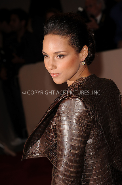 WWW.ACEPIXS.COM . . . . . ....May 2 2011, New York City....Alicia Keys arriving at the 'Alexander McQueen: Savage Beauty' Costume Institute Gala at The Metropolitan Museum of Art on May 2, 2011 in New York City. ....Please byline: KRISTIN CALLAHAN - ACEPIXS.COM.. . . . . . ..Ace Pictures, Inc:  ..(212) 243-8787 or (646) 679 0430..e-mail: picturedesk@acepixs.com..web: http://www.acepixs.com