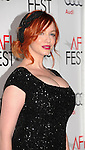 HOLLYWOOD, CA - NOVEMBER 07: Christina Hendricks  arrives at the 'Ginger And Rosa' special screening during AFI Fest 2012 at Grauman's Chinese Theatre on November 7, 2012 in Hollywood, California.