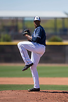 San Diego Padres starting pitcher Reggie Lawson (41) prepares to deliver a pitch during an Extended Spring Training game against the Colorado Rockies at Peoria Sports Complex on March 30, 2018 in Peoria, Arizona. (Zachary Lucy/Four Seam Images)