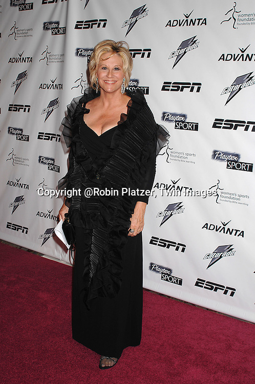 Donna DeVerona ..arriving on the Playtex Sport Pink Carpet at the Women's Sports Foundation's 28th annual Salute to Women in Sports at the Waldorf Astoria Hotel on October 15, 2007. ....photo by Robin Platzer, Twin Images....212-935-0770