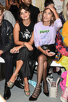 Pixie Geldof and Alexa Chung<br /> at the Ashley Williams catwalk show as part of London Fashion Week SS17, Brewer Street Carpark, Soho London<br /> <br /> <br /> ©Ash Knotek  D3155  16/09/2016