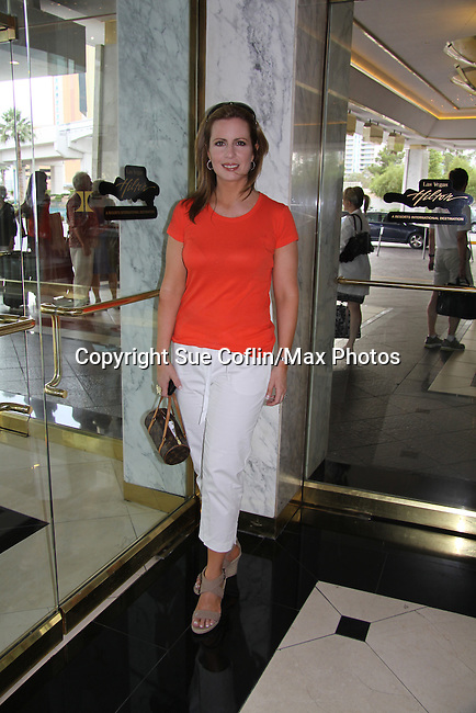 As The World Turns and General Hospital Martha Byrne (on the Red Carpet for Soap Central and wearing Nicole Miller at the Emmys) at the 38th Annual Daytime Entertainment Emmy Awards 2011 held on June 19, 2011 at the Las Vegas Hilton, Las Vegas, Nevada. (Photo by Sue Coflin/Max Photos)