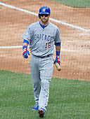 Chicago Cubs second baseman Ben Zobrist (18) returns to the dugout after striking out to end his team's half of the fifth inning against the Washington Nationals at Nationals Park in Washington, D.C. on Wednesday, June 15, 2016.  The Nationals won the game 5 - 4 in twelve innings.<br /> Credit: Ron Sachs / CNP
