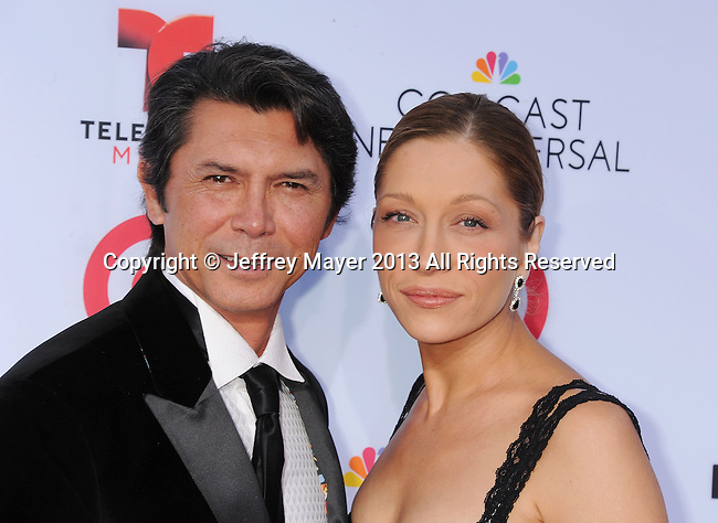 PASADENA, CA- SEPTEMBER 27: Actor Lou Diamond Phillips (L) and wife Yvonne Boismier Phillips arrive at the 2013 NCLA ALMA Awards at Pasadena Civic Auditorium on September 27, 2013 in Pasadena, California.