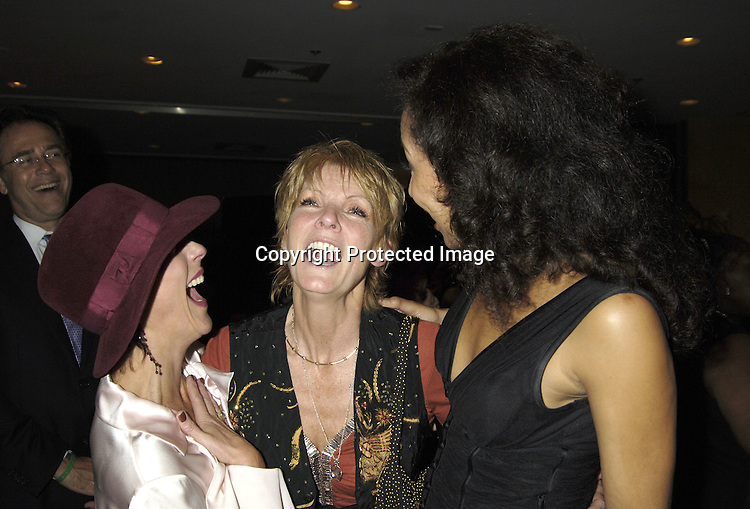 Colleen Zenk Pinter, Ellen Dolan and Tamara Tunie ..at the 11th Annual Daytime Television Salutes St. Jude Children's Research Hospital benefit hosted by Martha Byrne on October 14, 2005 at The New York Marriott Marquis Hotel. ..Photo by Robin Platzer, Twin Images