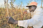 Kwaje Natan hunts with a bow and arrow for small game near the small village of Pisak, in Southern Sudan's Central Equatoria State. Natan is a United Methodist. NOTE: In July 2011, Southern Sudan became the independent country of South Sudan