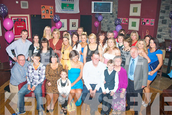 Jodie Sheehy, Caherslee, Tralee,daughter of Colm&Geraldine,had a smashing time celebrating her 21st birthday last Saturday night in O'Donnell's bar/restaurant,MountHawk,Tralee with many friends and family.