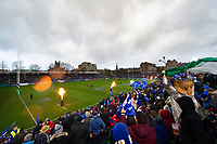 A general view of the Recreation Ground pitch as the teams run out for the start of the match. Heineken Champions Cup match, between Bath Rugby and Leinster Rugby on December 8, 2018 at the Recreation Ground in Bath, England. Photo by: Patrick Khachfe / Onside Images