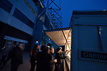 Fans queueing for refreshments outside the ground before Derby County played Stoke City in an EFL Championship match at Pride Park Stadium. Opened in 1997, it is the 16th-largest football ground in England and the 20th-largest stadium in the United Kingdom. The fixture ended in a 0-0 draw watched by a crowd of 25,685.
