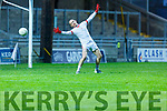 East Kerry keeper James Devane can only watch as Rahillys third goal goes past him in the County Football Championship 3rd round game on Saturday.