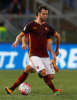 Calcio, Serie A: Roma vs Fiorentina. Roma, stadio Olimpico, 4 marzo 2016.<br /> Roma&rsquo;s Miralem Pjanic celebrates after scoring during the Italian Serie A football match between Roma and Fiorentina at Rome's Olympic stadium, 4 March 2016.<br /> UPDATE IMAGES PRESS/Riccardo De Luca