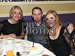 Sinead Daly, George and Leasa Murphy at the Team Carrie Awards night in The Grove hotel Dunleer. Photo:Colin Bell/pressphotos.ie